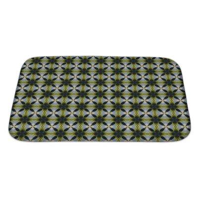 Slide Ethnic Pattern Geometric Kaleidoscope Bath Rug Size: Large