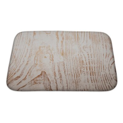 Wood Grunge From Painted Wooden Plank Bath Rug Size: Small