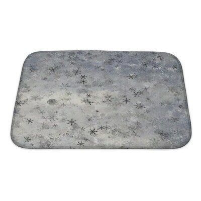 Alpha Theme Abstract or a Large Element of Tile About Upper Drifting Snow Fancy Bath Rug Size: Small