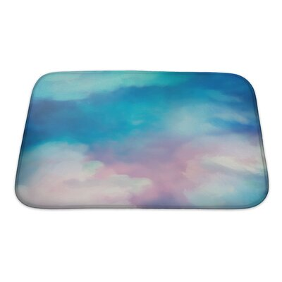 Art Touch Dramatic Sky Digital Watercolor Painting Bath Rug Size: Small