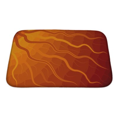 Bravo Abstract of Sun with Wavy Rays Tone Bath Rug Size: Small