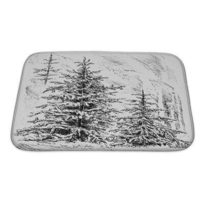 Landscapes Nature Plant Tree Forest Bath Rug Size: Small