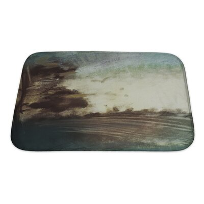 Art Beta Abstract Pastel on Paper Landscape, Art, Impressionism Bath Rug Size: Small
