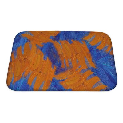 Simple Hand Painted Impressionistic Oil Painting Bath Rug Size: Small