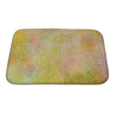 Art Primo Grain Abstract Acrylic Hand Painted Bath Rug Size: Small