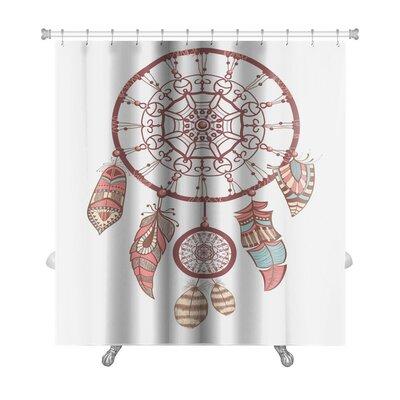 Tribal Dream Catcher Romantic Premium Shower Curtain