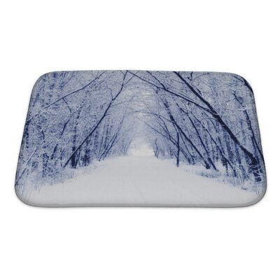Landscapes Winter Bath Rug Size: Small
