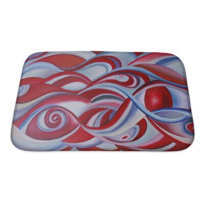 Art Hard Modern Painting of Sky or Universe Bath Rug Size: Small