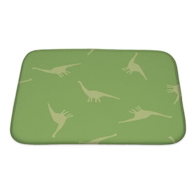 Dinosaurs Silhouettes of Dinosaurs Bath Rug Size: Large