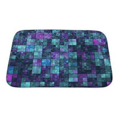 Kilo Mosaic with Abstract Color Pattern Bath Rug Size: Small