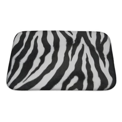 Animals Zebra Bath Rug Size: Small