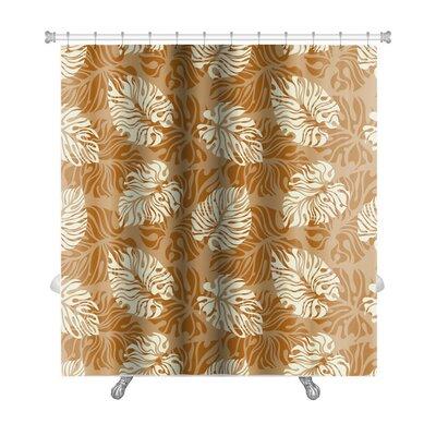 Simple Leaf Pattern Floral Premium Shower Curtain