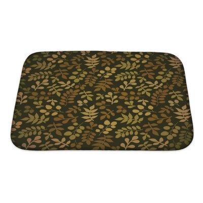 Cappa Leaf Bath Rug Size: Small