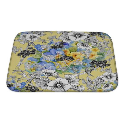 Kilo Floral Pattern Bath Rug Size: Small