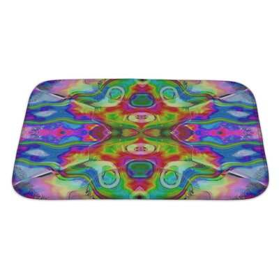 Kilo Stylized Watercolor Colorful Motifs Reminiscent of Impressionism Painting Bath Rug Size: Large