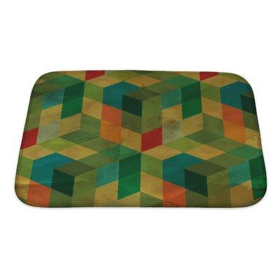 Delta Vintage Geometric Bath Rug Size: Small, Color: Green