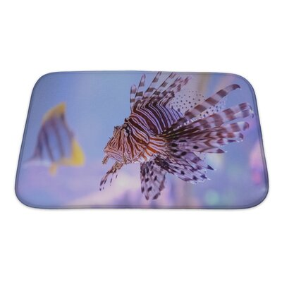 Fish Pterois Lionfish Bath Rug Size: Small