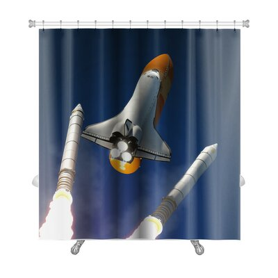 Aircraft Solid Rocket Buster Detached Premium Shower Curtain