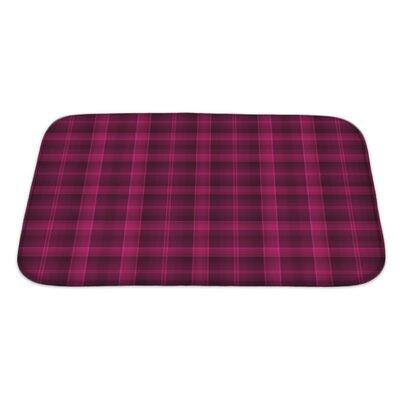 Beta Bold Tartan Plaid and Deep Raspberry Bath Rug Size: Large