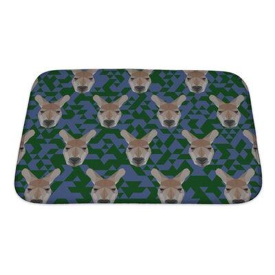 Animals Polygonal Kangaroo Bath Rug Size: Small