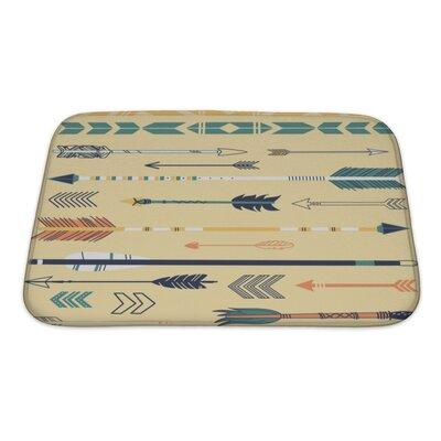 Tribal Cute Hipster Arrows, Hand Drawn Doodles Bath Rug Size: Small
