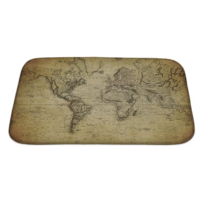 Earth Vintage Map of the World 1814 Bath Rug Size: Large