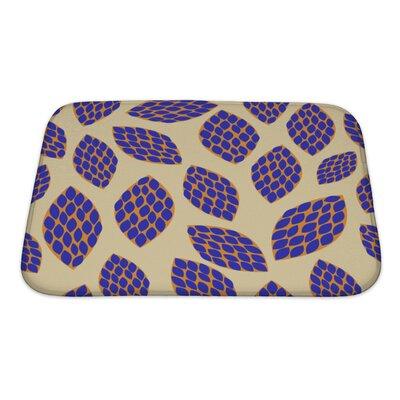 Kilo Hand Drawn Leaf Pattern Bath Rug Size: Small
