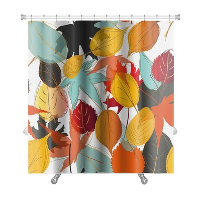 Leaves Leaf Pattern with Warm Colors of Autumn Premium Shower Curtain