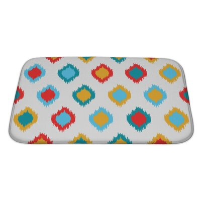 Delta Ikat Asian Traditional Pattern Bath Rug Size: Large