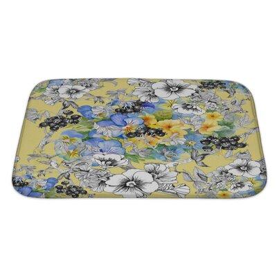 Kilo Floral Pattern Bath Rug Size: Large