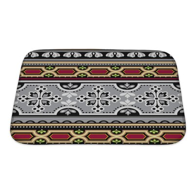 Tribal Floral Spanish Bath Rug Size: Small