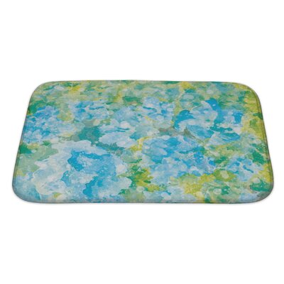 Art Primo Abstract Watercolor Flower Bath Rug Size: Large