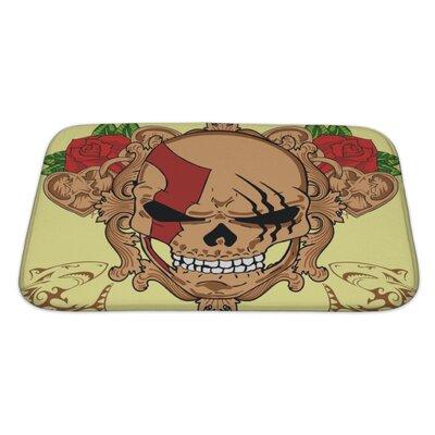 Danger Skull Bath Rug Size: Large