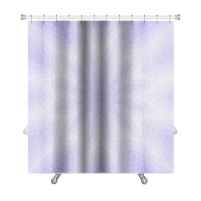 Primo Abstract Lilac of Squares Pattern Premium Shower Curtain