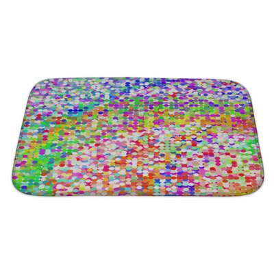 Art Beta Colorful Geometric from Mosaic Tiles, without Gradient Bath Rug Size: Large