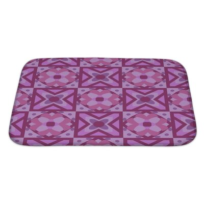 Creek Geometric Floral Pattern Bath Rug Size: Large