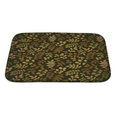 Cappa Leaf Bath Rug Size: Large