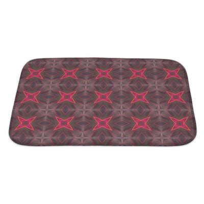 Simple Ethnic Pattern Geometric Kaleidoscope Bath Rug Size: Large