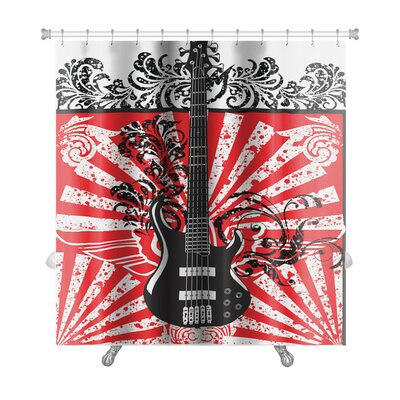 Instruments Abstract Electric Guitar Premium Shower Curtain