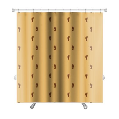 Delta Human Footprint Pattern Premium Shower Curtain