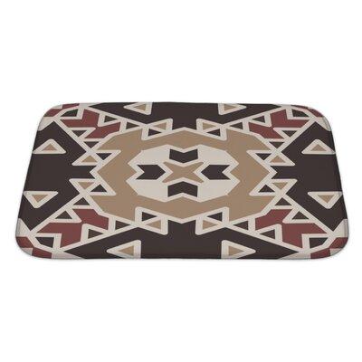 Creek Flat Ethnic Geometrical Ornament Tiles Bath Rug Size: Large