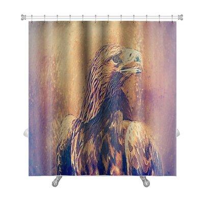 Birds Hawk Portrait Drawn Premium Shower Curtain