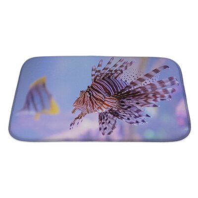 Fish Pterois Lionfish Bath Rug Size: Large