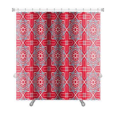 Simple Ethnic Pattern Abstract Kaleidoscope Premium Shower Curtain