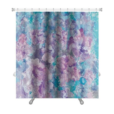 Art Primo Abstract Watercolor Flower in Impressionism Style Premium Shower Curtain