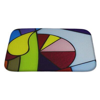 Art Hard Colorful Glass Bath Rug Size: Large