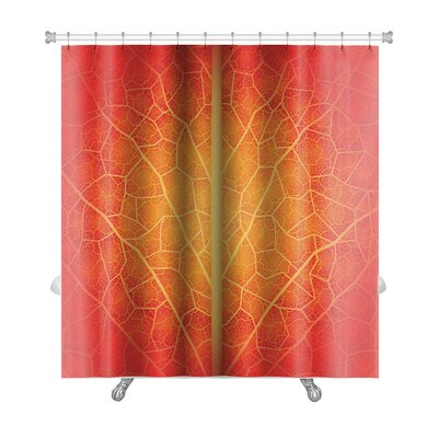 Leaves Creative with Leaf Drawn Manually Premium Shower Curtain