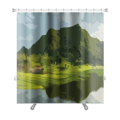 Landscapes Landscape Backdrop Abstract Art Premium Shower Curtain