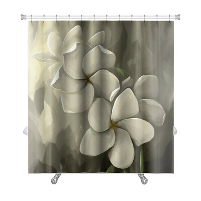 Flowers Digital Painting in Computer Shower Curtain