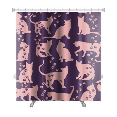 Animals Cat Premium Shower Curtain